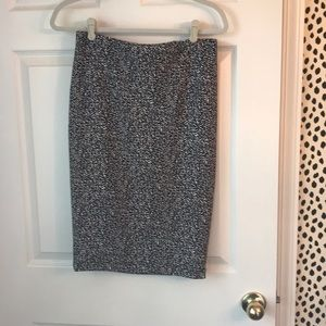 Vince Camuto Black and White Pencil Skirt